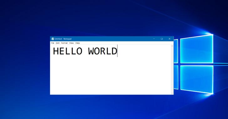 多年之後,微軟終於想起來要幫 Windows 「記事本」推出它的更新版了