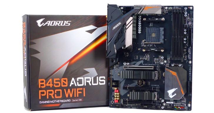 AMD B450 晶片組旗艦主機板,GIGABYTE B450 AORUS Pro Wi-Fi 分析測試