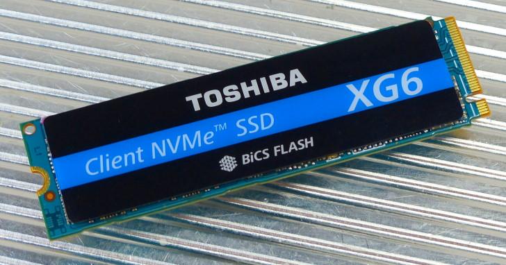導入 96 層 3D 堆疊 BiCS4 快閃記憶體,Toshiba XG6 1TB NVMe M.2 SSD 測試
