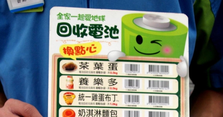不只換一個茶葉蛋!月底前回收廢電池購物金加碼