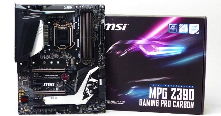 Z390 晶片組中堅份子,MSI MPG Z390 Gaming Pro Carbon 主機板測試