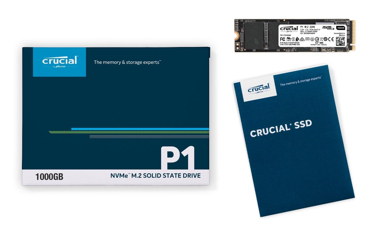 Micron 擴張 Crucial 儲存方案 推出 P1 NVMe 固態硬碟