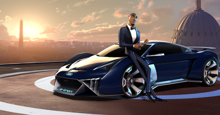Audi首次為動畫電影設計虛擬概念車「RSQ e-tron」