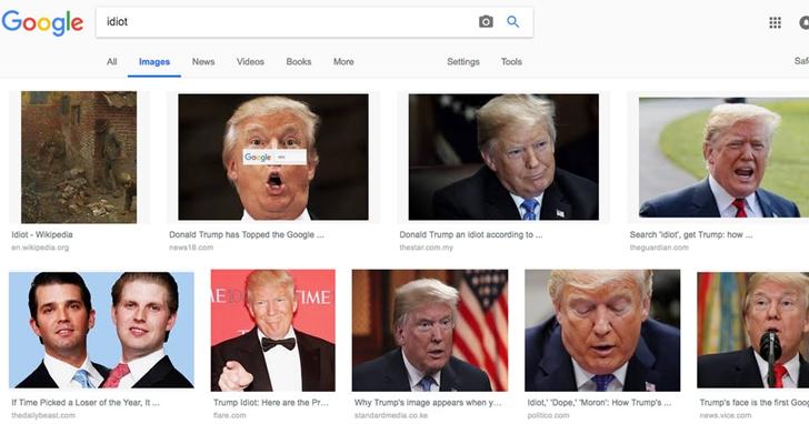 Google「白痴」為什麼老是出現川普?CEO皮蔡向美國國會議員解釋原理,但議員還是覺得是有人搞鬼