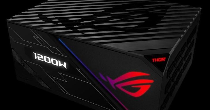 ROG 集滿加成戰力,Asus ROG Thor 850P/1200P 電源供應器上市,附帶 OLED 即時顯示功耗負載