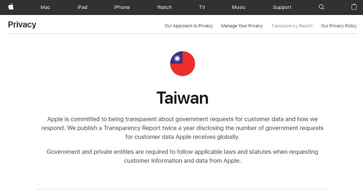 各國政府歷年來向蘋果要了多少用戶資料?Apple 用簡潔明白的網站告訴你
