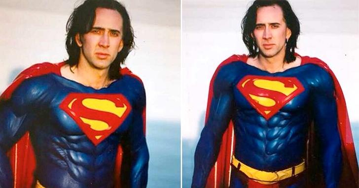 尼可拉斯·凱吉版的超人裝首次公開亮相:高調華麗,凸顯肌肉
