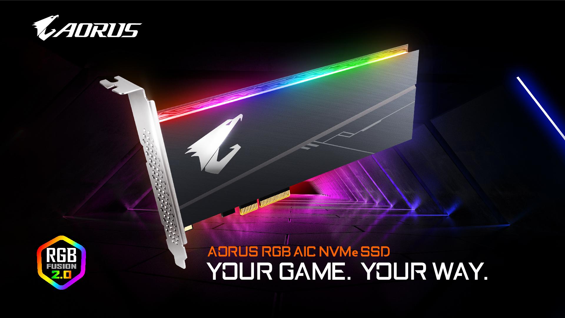 技嘉固態硬碟再升級 推出最新AORUS RGB系列機種