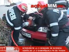 預熱輔助裝置冒煙!Audi A6引擎蓋被消防隊撬開滅火