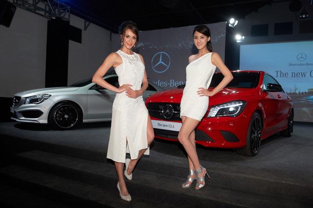 Mercedes-Benz CLA四門轎跑 Model篇,「火辣名模」瑞莎與「新科貴婦」宋紀妍性感現身!