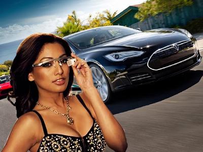 Google Glass拍攝的第一人稱視角 Tesla Model S電動轎跑車試駕報導,警告!影片可能會造成您頭暈想吐