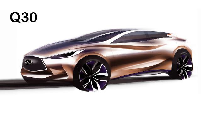 全新 INFINITI Q30概念車將於法蘭克福車展發表