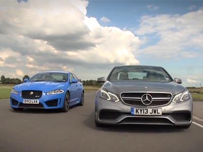 Jaguar XFR-S vs. M-Benz E63 AMG德英性能房車大對決!你說冠軍會落誰家?