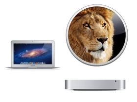 MacBook Air、Mac mini 帶著 OS X Lion 更新出擊