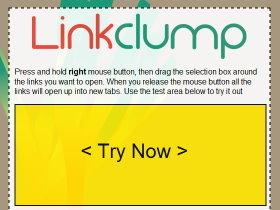 Linkclump:懶人福音,滑鼠圈選就能開啟所有網頁連結