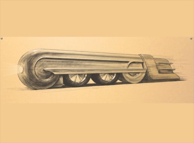 Google首頁那輛火車頭原來是要向設計大師 Raymond Loewy致敬!