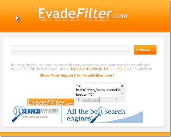 EvadeFilter──不用Tor也可以換IP