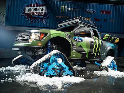 Ken Block的新玩具:Ford F-150 RaptorTRAX雪地戰車!