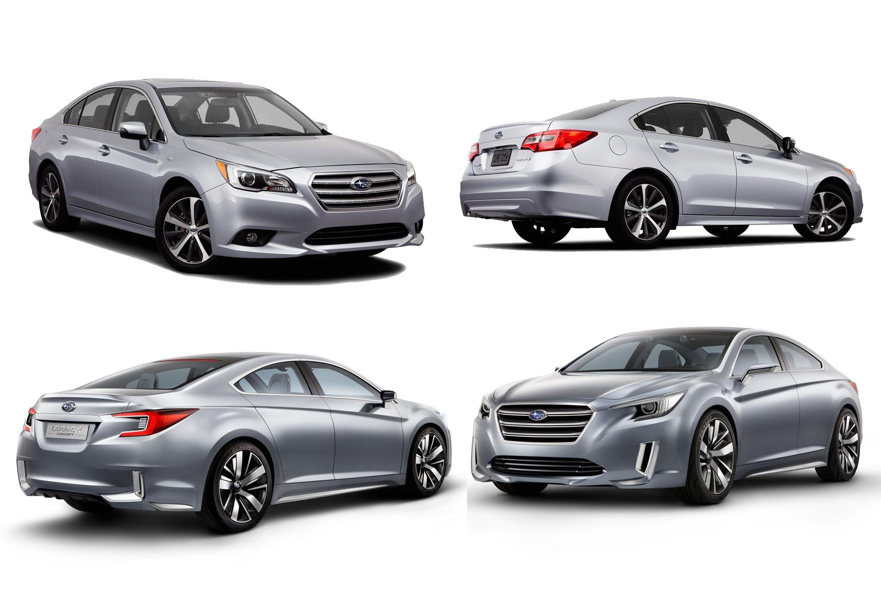 全新大改款 Subaru Legacy實車與概念的差異,讓人有被晃點的感覺!