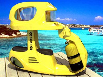情人節最佳禮物:AS-2雙人海底電動機車,讓你與阿娜達一起欣賞海底風光