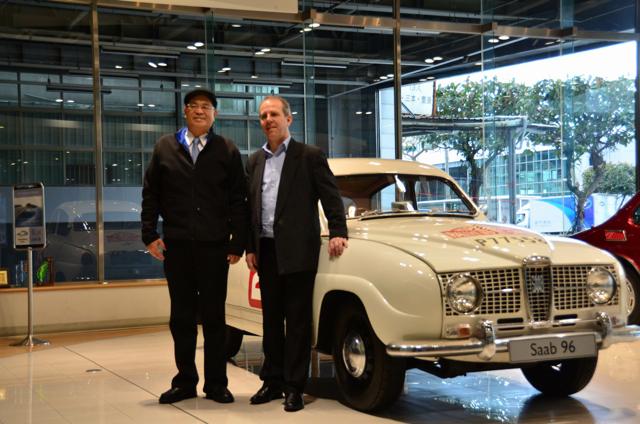 瑞典 Saab零件公司銷售主管Johnny Johansson來台拜訪總代理商富汽車公司