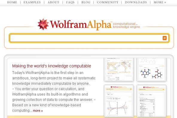 給魚不如給釣竿的搜尋網站:Wolfram Alpha
