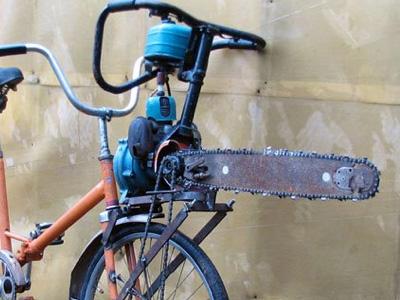 俄羅斯電鋸腳踏車!這是要騎車還是要殺人呀?