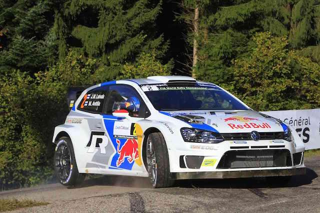 WRC世界拉力錦標賽法國站激烈開跑 VW MOTORSPORT再下一城