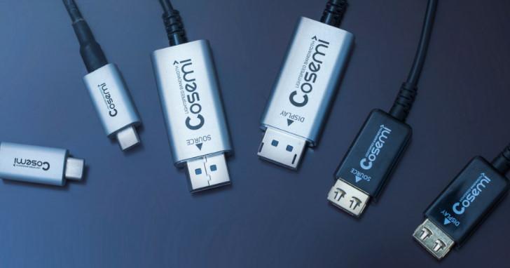 USB 3.1 Gen2 單一線材傳輸距離再突破,Cosemi 推出新款 Hybrid Active Optical Cable 達 50 公尺