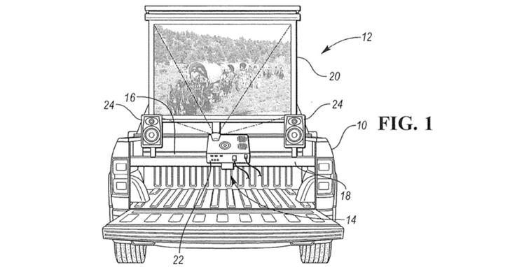 福特獲得新專利將皮卡車車廂變成了「派對中心」