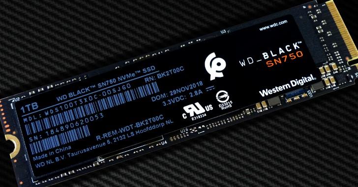 韌體精進效能最佳化,WD Black SN750 NVMe SSD 實測再推升速度境界