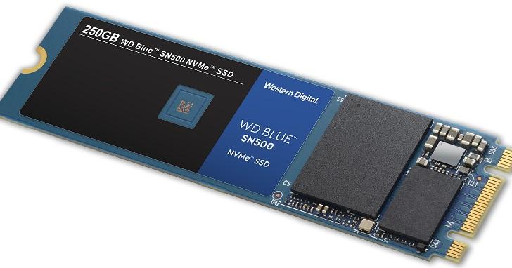 WD Blue SSD 從 SATA 加入 NVMe 陣營,推出 WD Blue SN500 NVMe SSD