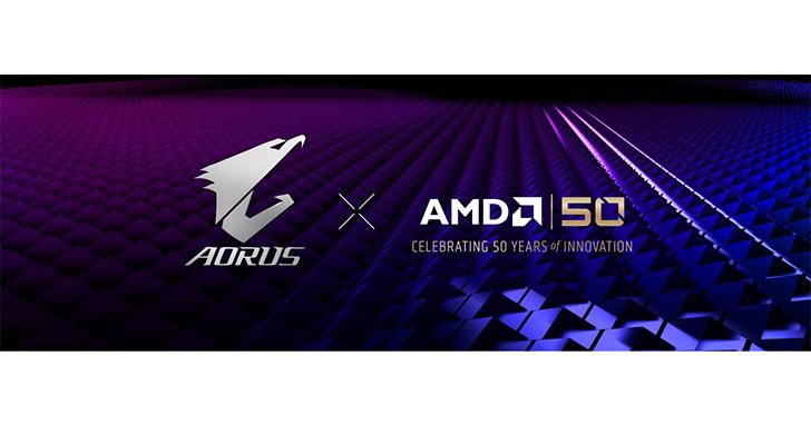 技嘉推出X470 AORUS GAMING 7 WIFI-50主機板 慶祝AMD創立50週年