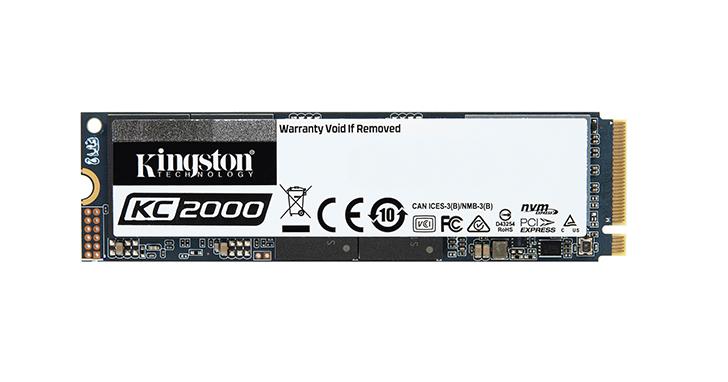 Kingston金士頓推出新一代KC2000 NVMe PCIe SSD 固態硬碟
