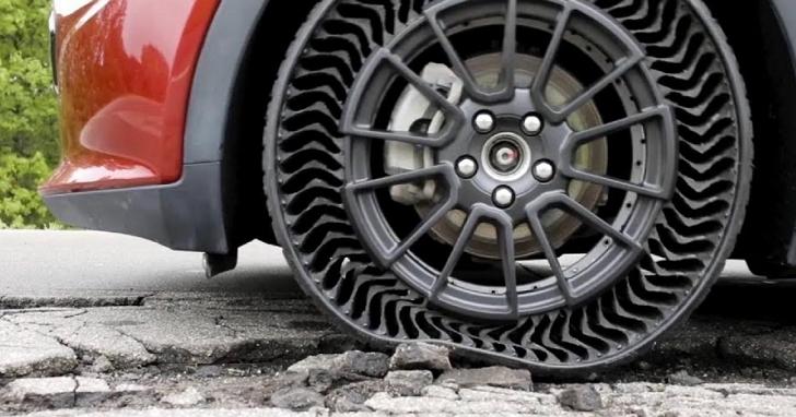 米其林發布免充氣輪胎 Uptis Prototype,免去你擔心爆胎的風險