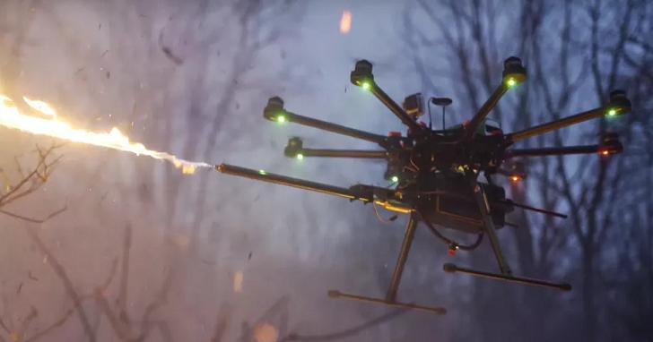 不算武器!附帶「火焰噴射器」的無人機,網路上就能買得到