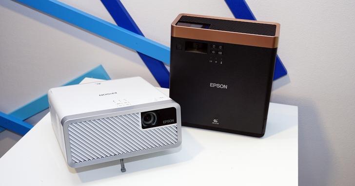 Epson 推出輕巧型雷射投影機 EF-100W/100B,支援垂直投影,天花板就是電影院