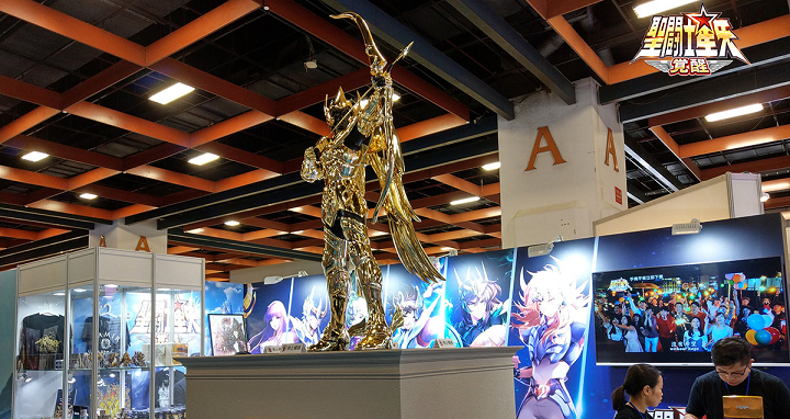 1:1 等身大射手座黃金聖鬥士,漫博展場看得到!
