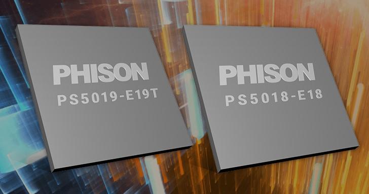 Phison PS5016-E16 PCIe Gen4 控制器只是開始,PS5018-E18 讀寫可達 7GB/s、PS5019-E19T 更省電
