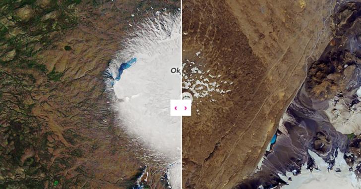冰島 OK 冰川不再 OK!NASA 公布 30 年前冰川對比照:積雪速度終不敵全球暖化速度