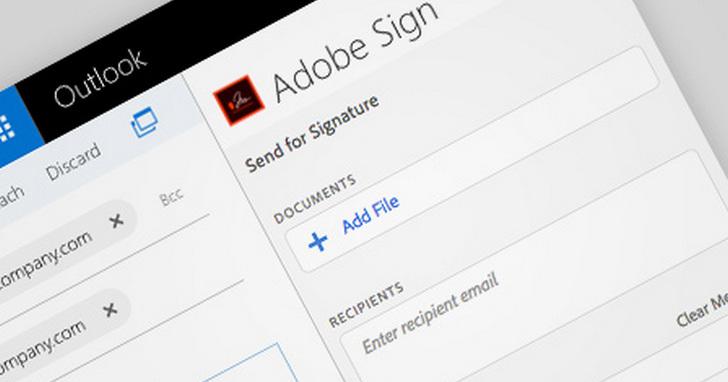 Adobe攜手微軟進行整合,手機使用者可即時以Adobe Sign電子簽名