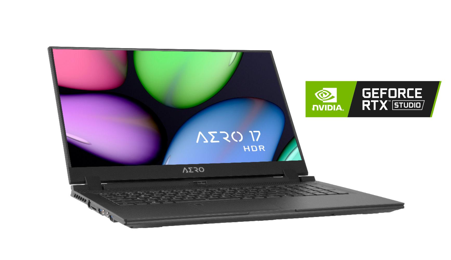 視界更寬廣 技嘉創作者筆電AERO 17 HDR上市 最高搭載8核心i9處理器和RTX STUDIO創作者筆電認證