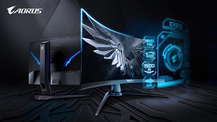 全球首創黑平衡2.0,戰術型電競螢幕AORUS CV27Q真1500R上市!
