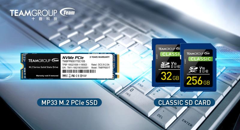 十銓科技推出MP33 M.2 PCIe 固態硬碟及Full-HD錄製拍攝專用Classic SD 記憶卡