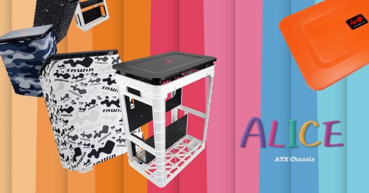 這不是收納箱,這是 InWin 最新 ABS 塑膠機殼 ALICE,布質多彩外衣更吸睛!
