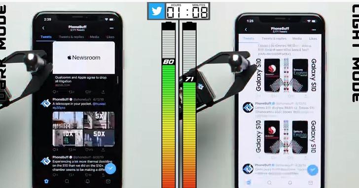 iPhone的黑暗(深色)模式真能省電嗎?YouTuber實測與正常模式比較續航力會差多少