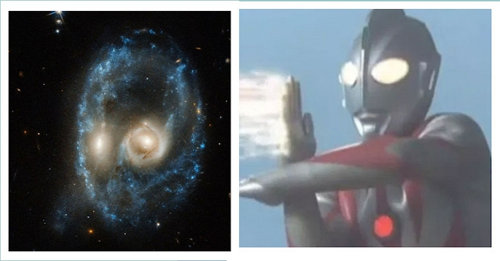 哈伯太空望遠鏡拍到的一張「鬼臉」,竟然與人類的好朋友撞臉了?