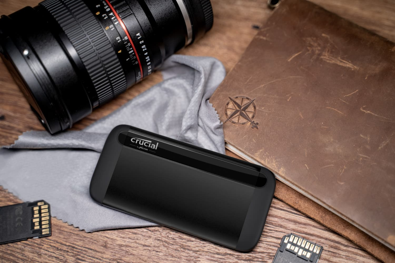 美光(Micron)宣布跨足SSD 行動硬碟市場  Crucial® X8 外接式SSD 行動硬碟提供頂級效能與無與倫比的價值