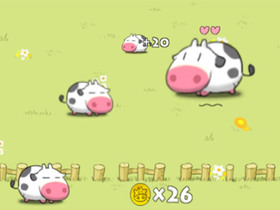 iPhone 小遊戲 Crazy Cow,操控會霸凌的可愛小牛
