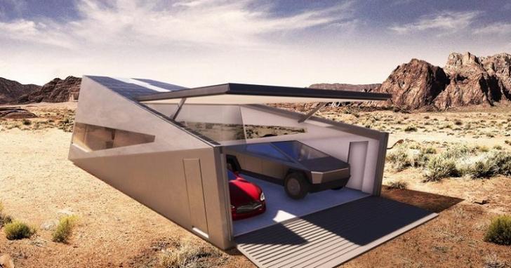 這是專為特斯拉 Cybertruck 設計的高科技車庫,而且它從北極到火星都能用